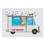 Ice Cream Truck with Music Poster