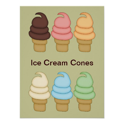 Ice Cream Twist Cones Poster