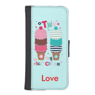 Ice Cream Two Personalized iPhone SE/5/5s Wallet Case