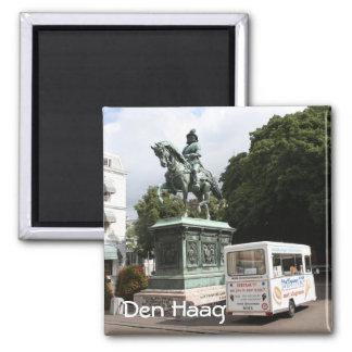 Ice cream vendor and statue square magnet