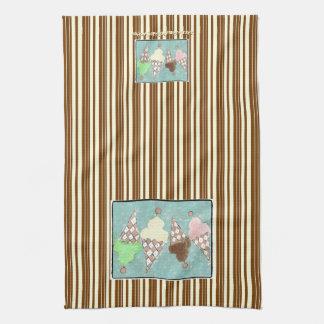 Ice Cream Vertical Stripe Towel