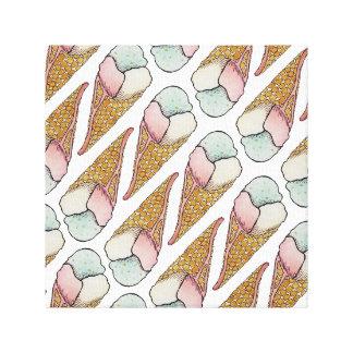 Ice Cream Waffle Cone Canvas Prints
