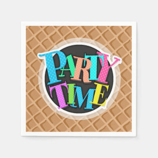 Ice Cream Waffle Cone Pattern Disposable Napkins