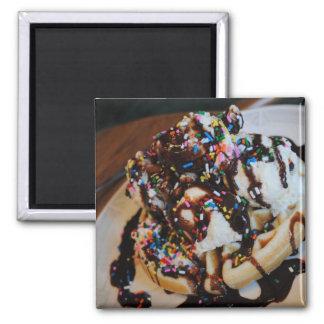 Ice Cream Waffle Magnet