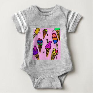 Ice Cream Wallpaper Baby Bodysuit