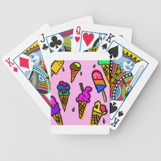 Ice Cream Wallpaper Bicycle Playing Cards