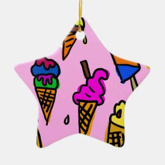 Ice Cream Wallpaper Ceramic Ornament