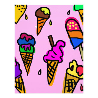 Ice Cream Wallpaper Letterhead