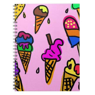 Ice Cream Wallpaper Notebook