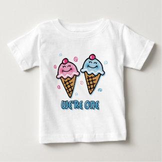 Ice Cream We're One Boy & Girl Baby T-Shirt