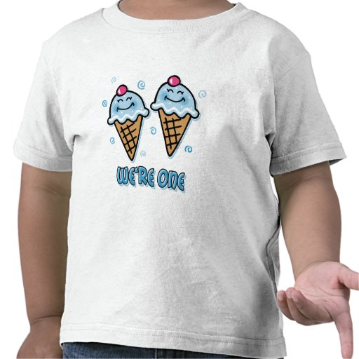 Ice Cream We're One Twin Boys T-shirt