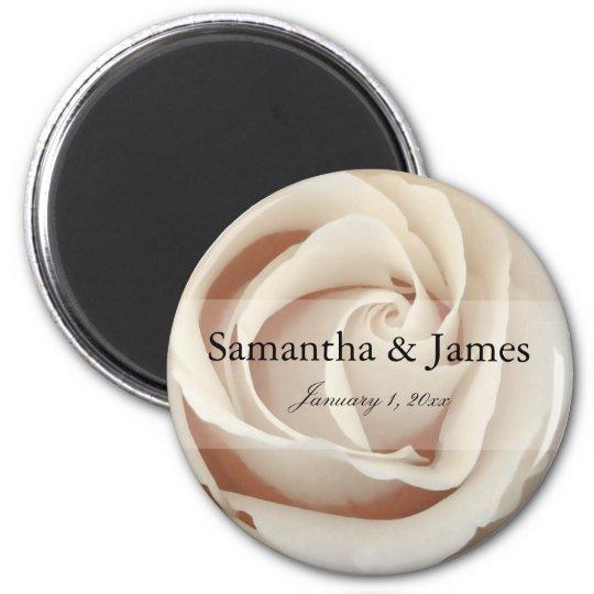 Ice Cream White Rose Magnet