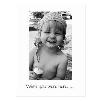 ice cream, Wish you were here card Postcard