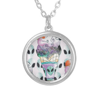 ice cream with foreign fund silver plated necklace