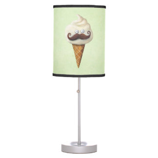 Ice Cream with Mustaches Table Lamp