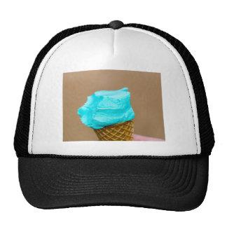 Ice cream with waffle macro trucker hat