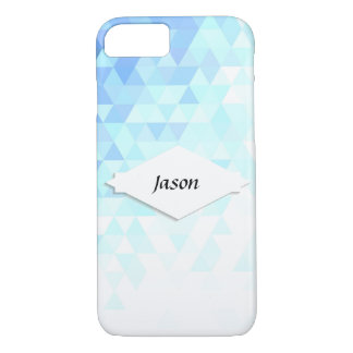 Ice Crystal Blue Triangle Phone Case