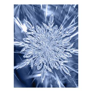 ice crystal Christmas favor Letterhead