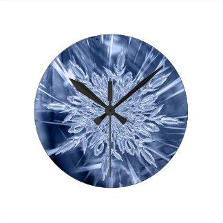 ice crystal Christmas favor Round Clock