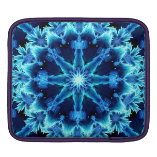 Ice Crystal Light Mandala iPad Sleeves