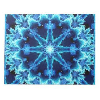 Ice Crystal Light Mandala Notepad