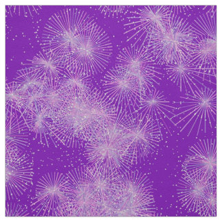 Ice Crystal Starbursts, Purple Background Fabric