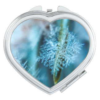 Ice Crystal,  Wintertime, Snow, Nature Compact Mirror