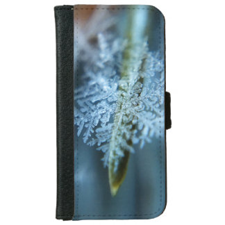 Ice Crystal,  Wintertime, Snow, Nature iPhone 6 Wallet Case