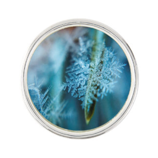 Ice Crystal,  Wintertime, Snow, Nature Lapel Pin
