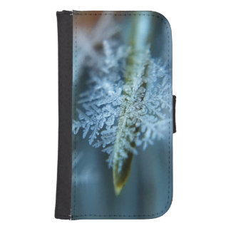 Ice Crystal,  Wintertime, Snow, Nature Samsung S4 Wallet Case