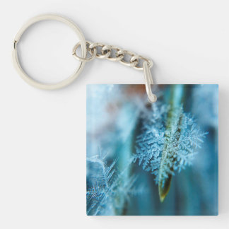 Ice Crystal,  Wintertime, Snow, Nature Single-Sided Square Acrylic Keychain