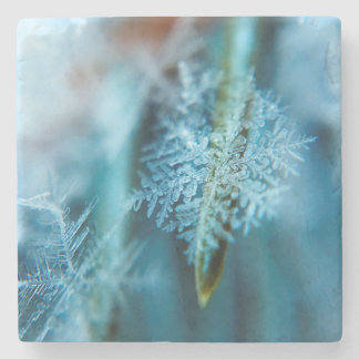 Ice Crystal,  Wintertime, Snow, Nature Stone Coaster
