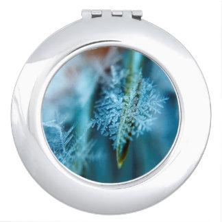 Ice Crystal,  Wintertime, Snow, Nature Travel Mirror