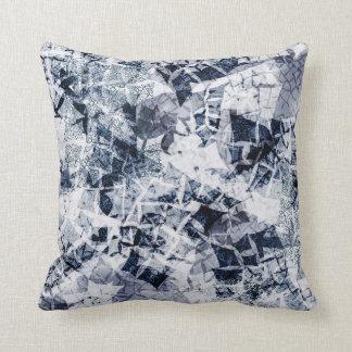 Ice Crystals - Dark Blue Throw Pillow