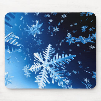 Ice Crystals Mouse Pad