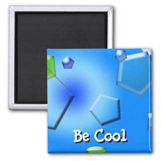 Ice Cube abstract digital Square Magnet