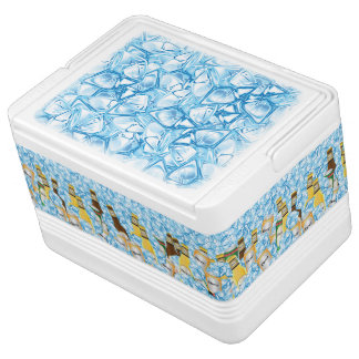 Ice Cube and Beer Filled Cooler