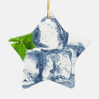 Ice cube cool yourself ceramic star ornament