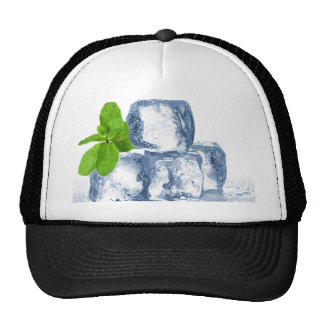 Ice cube cool yourself mesh hats