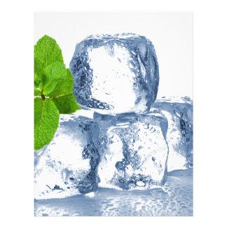 Ice cube cool yourself letterhead design