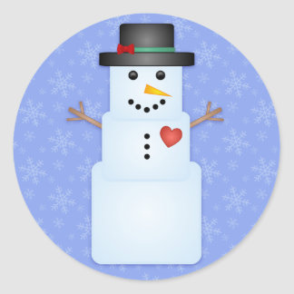 Ice Cube Snowman Holiday Stickers