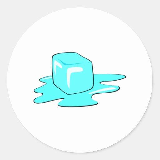 Ice Cube Round Sticker