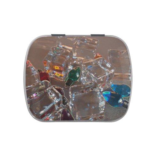 ice cubes bulbs sparkle beach christmas jelly belly candy tins