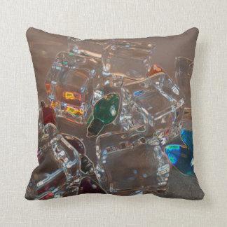 ice cubes bulbs sparkle beach christmas throw pillow
