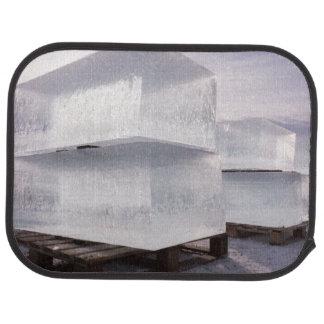 Ice cubes car floor carpet