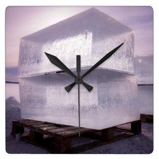 Ice cubes clocks