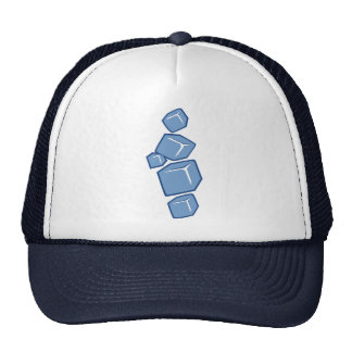 Ice cubes hats