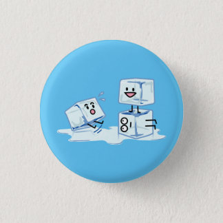 ice cubes icy cube water slipping stack melt cold 1 inch round button