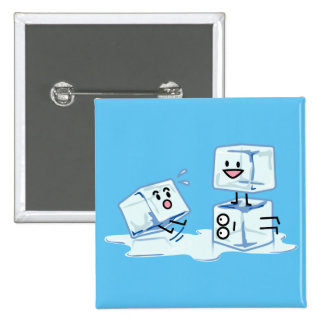 ice cubes icy cube water slipping stack melt cold 2 inch square button