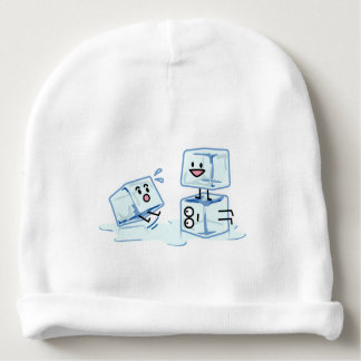 ice cubes icy cube water slipping stack melt cold baby beanie